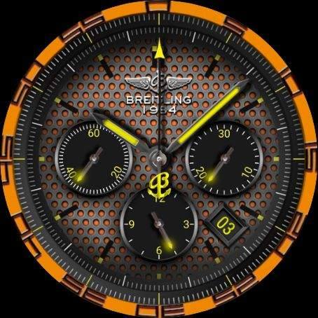 Breitling space walk watch face