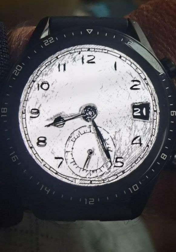 Sketch watch face theme